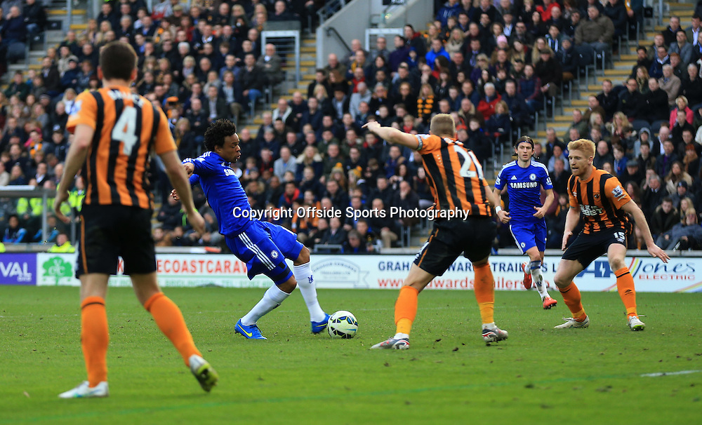 22 March 2015 - Barclays Premier League - Hull City v Chelsea - Loic Remy of Chelsea scores the 3rd goal - Photo: Marc Atkins / Offside.