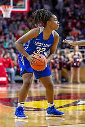 NORMAL, IL - December 20: Myia Clark during a college women's basketball game between the ISU Redbirds and the St. Louis Billikens on December 20 2018 at Redbird Arena in Normal, IL. (Photo by Alan Look)