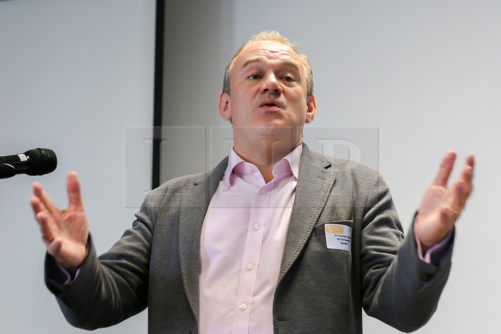 """© Licensed to London News Pictures. 20/07/2019. London, UK. Liberal Democrat leadership contender ED DAVEY speaks at Social Liberal Forum conference in north London on """"Climate Justice - How to Decarbonise Capitalism and Tackle Poverty"""". Photo credit: Dinendra Haria/LNP"""