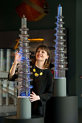 Pictured: Elsa Cox, Senior Curator of Technology, demonstrates the Crackle Tubes<br /> <br /> The National Museum of Scotland will launch ten new galleries on 8 July following a £14.1 million redevelopment in their 150th year.  <br /> <br /> Ger Harley | EEm 5 July 2016