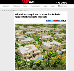AMEinfo UAE; model of new luxury villas development