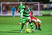 Forest Green Rovers Jesse Mensary on the ball during the Pre-Season Friendly match between Worthing FC and Forest Green Rovers at Woodside Road, Worthing, Uni on 1 August 2017. Photo by Shane Healey.