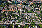 Nederland, Utrecht, Amersfoort, 30-06-2011; de vogelaarwijk De Kruiskamp, strokenbouw; blokken, laagbouw afgewisseld met flats. Amersfoort Vernieuwt..Deprived area Kruiswijk in the city of Amersfoort..luchtfoto (toeslag), aerial photo (additional fee required).copyright foto/photo Siebe Swart