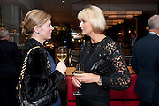 DEBBIE BOOM; ANNA SOSNOWSKA, Fine Wine and Dine in aid of  Sick Children's Trust. Cafe Anglais. London. 1 March 2012