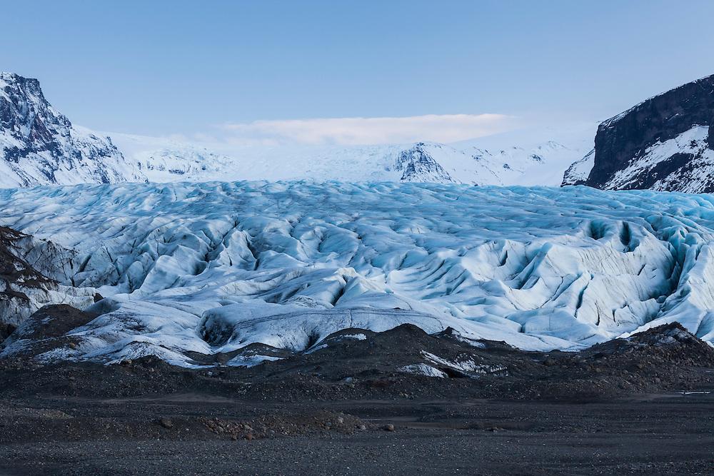 Skaftafellsjokull glacier. Vatnajokull National Park. Iceland.