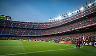 Coutinho prepares to throw a corner kick during the Spanish league football match of 'La Liga'  FC BARCELONA against RAYO VALLECANO at Camp Nou Stadium of Barcelona on March 9,2019
