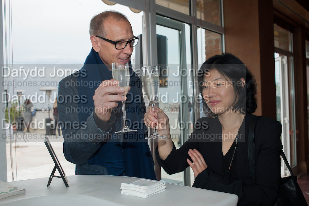 CHRISTIAN MARCLAY; LYDIA LEE, Absolut Art Bureau cocktails and dinner to celebrate the announcement of the 2013 Absolut Art Award shortlist. Bauer Hotel, San Marco. Venice. Venice Bienalle. 28 May 2013