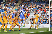 Colchester Utd midfielder Doug Loft goes close during the EFL Sky Bet League 2 match between Colchester United and Cambridge United at the Weston Homes Community Stadium, Colchester, England on 13 August 2016. Photo by Nigel Cole.