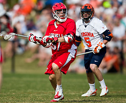 Cornell Big Red M Rocco Romero (37) in action against UVA.  The #1 ranked Virginia Cavaliers defeated the #4 ranked Cornell Big Red 14-10 at Klockner Stadium on the Grounds of the University of Virginia in Charlottesville, VA on March 8, 2009.