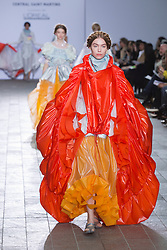 © Licensed to London News Pictures. 28/05/2013. London, England. Collection by Alve Lagercrantz. Central St Martins BA Fashion show with collections by graduate fashion students. Photo credit: Bettina Strenske/LNP