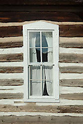 Hornbek Homestead, window, Florissant Fossil Beds, Colorado