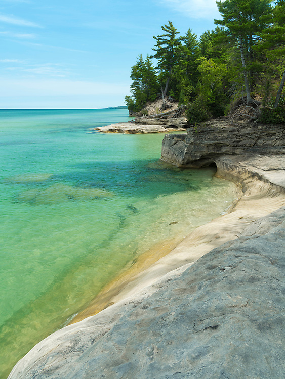"""Image from the area known as """"The Cove,"""" Pictured Rocks National Lakeshore, Michigan, USA."""