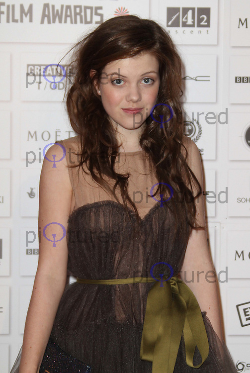 Georgie Henley The Moet British Independent Film Awards, Old Billingsgate Market, London, UK, 05 December 2010:  Contact: Ian@Piqtured.com +44(0)791 626 2580 (Picture by Richard Goldschmidt)