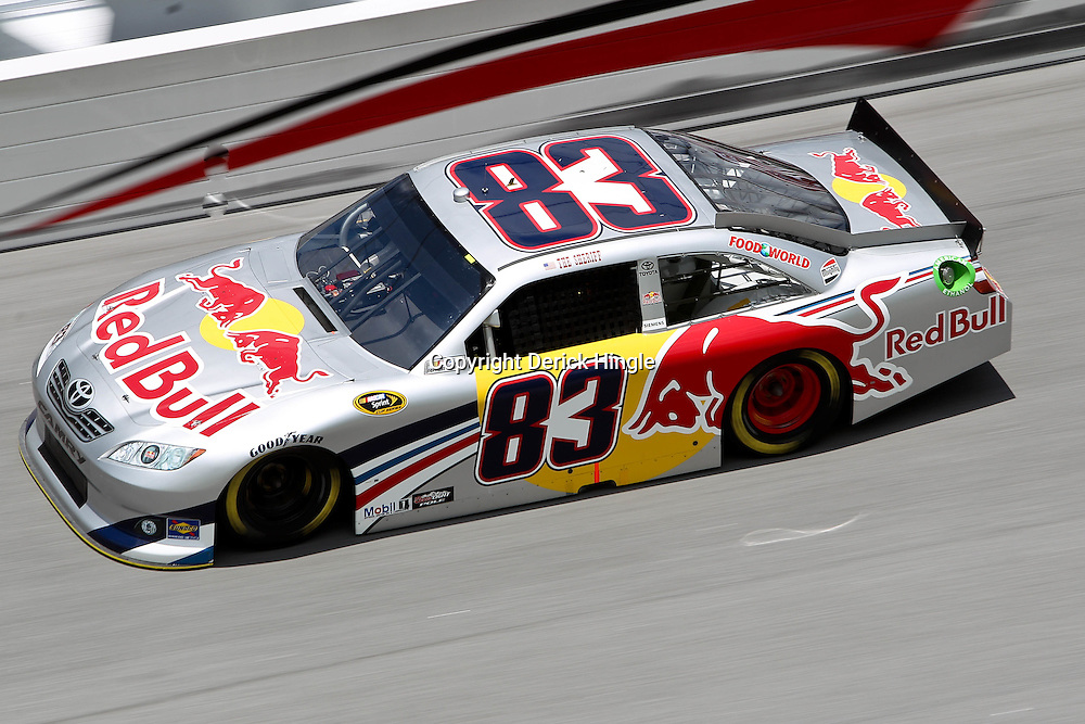 April 16, 2011; Talladega, AL, USA; NASCAR Sprint Cup Series driver Brian Vickers (83) during qualifying for the Aarons 499 at Talladega Superspeedway.   Mandatory Credit: Derick E. Hingle