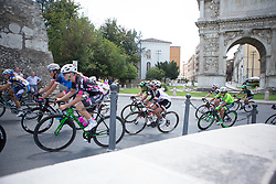 Coryn Rivera (USA) of Team Sunweb rides through Benevento during Stage 7 of the Giro Rosa - a 141.9 km road race, between Isernia and Baronissi on July 6, 2017, in Isernia, Italy. (Photo by Balint Hamvas/Velofocus.com)