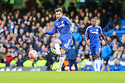 Chelsea's Cesc Fàbregas makes a pass during the The FA Cup third round match between Chelsea and Scunthorpe United at Stamford Bridge, London, England on 10 January 2016. Photo by Shane Healey.
