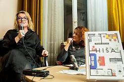 Ivana Djilas in Jedrt Jež Furlan na predstavitvi knjige Hiša // presentation of Ivana Djilas's new book named Hiša (House), on February 15, 2017 in Ljubljana, Slovenia. Photo by Vid Ponikvar / Sportida