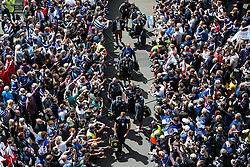 Bath players arrive to a sea of Bath supporters at Twickenham - Photo mandatory by-line: Rogan Thomson/JMP - 07966 386802 - 30/05/2015 - SPORT - RUGBY UNION - London, England - Twickenham Stadium - Bath Rugby v Saracens - 2015 Aviva Premiership Final.