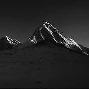 Pumori, with Kala Patthar in the foreground. Nepal Himalaya.
