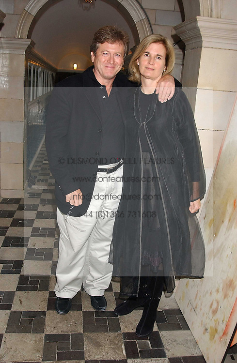 JOHN PAWSON and his wife CATHERINE at the No Campaign's Summer Party - a celebration of the 'Non' and 'Nee' votes in the Europen referendum in France and The Netherlands held at The Peacock House, 8 Addison Road, London W14 on 5th July 2005.<br />