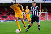 Joss Labadie of Newport County during the The FA Cup match between Grimsby Town FC and Newport County at Blundell Park, Grimsby, United Kingdom on 9 November 2019.