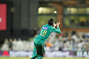 Shoaib Malik catches David Willeys shot during the International T20 match between England and Pakistan at the Emirates, Old Trafford, Manchester, United Kingdom on 7 September 2016. Photo by Craig Galloway.