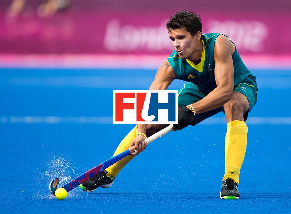 London Olympics 11/08/2012.Mens Hockey Bronze medal Match.Australia v Great Britain.Joel Carroll ..Photo: Grant Treeby