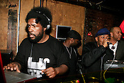 "Questlove and MOS DEF at The Roots Album realease party for ""Roots Down"" at Sutra on April 29, 2008"".. The Legendary Roots Crew, the influential, Grammy Award-winning American band from Philadelphia, Pennsylvania, famed for a heavily jazzy sound and live instrumentation, have made 10 Albums to date."