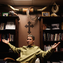 "Portrait of Troy Newman, of the pro-life organization ""Operation Rescue"" in Wichita, KS. 2009, June 19th. Photo: Antoine Doyen"