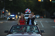 Emily Wikle and Rob Barber ride in the Ole Miss homecoming parade in Oxford, Miss. on Friday, October 17, 2014. Ole Miss hosts Tennessee in football action on Saturday, October 18 at 6 p.m.