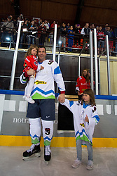 Tomaz Razingar with family at Poslovilna tekma Tomaza Razingarja, on July 16, 2016 in Ledna dvorana, Bled, Slovenia. Photo by Matic Klansek Velej / Sportida