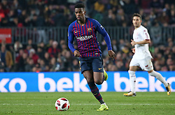 December 5, 2018 - Barcelona, Spain - Nelson Semedo during the match between FC Barcelona and Cultural Leonesa, corresponding to the 1/16 final of the spanish King Cuo, played at the Camp Nou Stadium on 05th December 2018 in Barcelona, Spain. Photo: Joan Valls/Urbanandsport /NurPhoto. (Credit Image: © Joan Valls/NurPhoto via ZUMA Press)