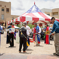 Honor Gourd Dances at Courthouse Square, as part of the Stars and Stripes 4th of July Celebration in Gallup Wednesday.