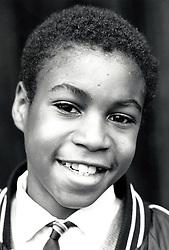 Primary schoolboy Nottingham UK 1988