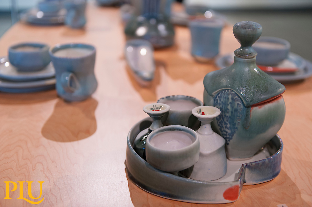 Deborah Schwartzkopf Pottery Exhibition at PLU on 3/18/2015 (Photo/John Struzenberg '16)