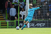 Forest Green Rovers goalkeeper Lewis Thomas(24) during the EFL Sky Bet League 2 match between Forest Green Rovers and Newport County at the New Lawn, Forest Green, United Kingdom on 31 August 2019.