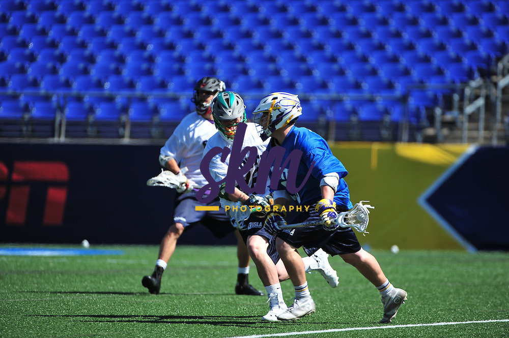 Stevenson University men's lacrosse had three player, Kyle Holechek, Bret Hiken, and Glen Tompkins playing for the South in the USILA North-South All Star Game at M&T Bank Stadium on Sunday morning. The South won 20-16.