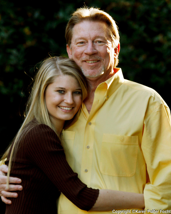Father daughter portrait....Chesley Henderson and daughter Mary Kate. Model Released.