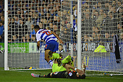 Reading's Nick Blackman scores during the Capital One Cup match between Reading and Everton at the Madejski Stadium, Reading, England on 22 September 2015. Photo by Mark Davies.