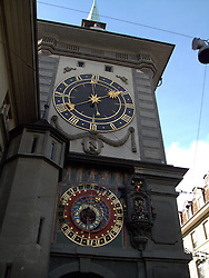 SWITZERLAND BERN 7JAN11 - Bern clocktower with medieval clock mechanism in Bern city centre...jre/Photo by Jiri Rezac..© Jiri Rezac 2011