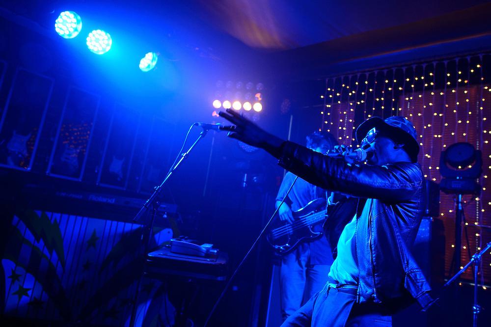 Loui the ZU performs at NZ On Air's Showcase. Backbeat Bar, Auckland. 15 November 2012