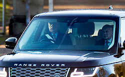 © Licensed to London News Pictures. 02/12/2019. Windsor, UK.  Prince Andrew is seen driving from Windsor. Later the BBC Panorama will screen an hour long interview with Virginia Giuffre who alledges she was made to sleep with Prince Andrew when she was 17. Photo credit: Peter Macdiarmid/LNP