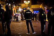 Frankfurt | 07 October 2016<br /> <br /> Am Freitag (07.10.2016) versammelten sich in Wetzlar etwa 80 Neonazis aus dem Umfeld der NPD, von neonazistischen Freien Kameradschaften, dem sog. Freien Netz Hessen und der Identit&auml;ren Bewegung zu einer Demonstration &quot;gegen &Uuml;berfremdung&quot;. Die geplante Demo-Route war von etwa 1600 Anti-Nazi-Aktivisten blockiert, daher wurde den Neonazis eine neue Demoroute durch Altstadt und Innenstadt von Wetzlar vorbei am Wetzlarer Dom zugewiesen. Auch hier stellten sich den Rechten immer wieder Aktivisten in den Weg.<br /> Hier: W&auml;hrend der Zwischenkundgebung der Neonazi-Demo steht ein Neonazi mit einer Jacke mit dem Aufdruck &quot;Ansgar Aryan&quot; vor dem Dom von Wetzlar.<br /> <br /> photo &copy; peter-juelich.com<br /> <br /> FOTO HONORARPFLICHTIG, Sonderhonorar, bitte anfragen!