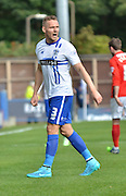 Bury Defender Chris Hussey in action during the Sky Bet League 1 match between Bury and Coventry City at Gigg Lane, Bury, England on 26 September 2015. Photo by Mark Pollitt.