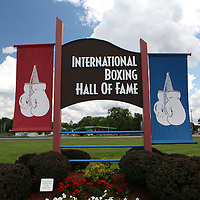 The 23rd Annual International Boxing Hall of Fame induction weekend opening ceremony, Thursday, June 7, 2012 in Canastota, NY Inductees include Thomas Hearns, Freddie Roach, Michael Buffer, Al Bernstein, Michael Katz and Mark Johnson. (AP Photo/Alex Menendez)