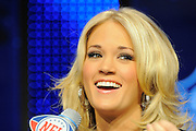 Fort Lauderdale, FL; Country music star Carrie Underwood during a press conference for the Super Bowl at the Fort Lauderdale Convention Center on Feb. 4, 2010..©2010 Scott A. Miller