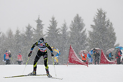 Jean Aurore of France during Women 9 km pursue race at the cross country Tour de Ski 2014 of the FIS cross country World cup competition on January 5th, 2014 in Alpe Cermis, Val di Fiemme, Italy. (Photo by Urban Urbanc / Sportida)