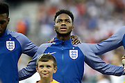 England Midfielder Raheem Sterling during the Round of 16 Euro 2016 match between England and Iceland at Stade de Nice, Nice, France on 27 June 2016. Photo by Andy Walter.