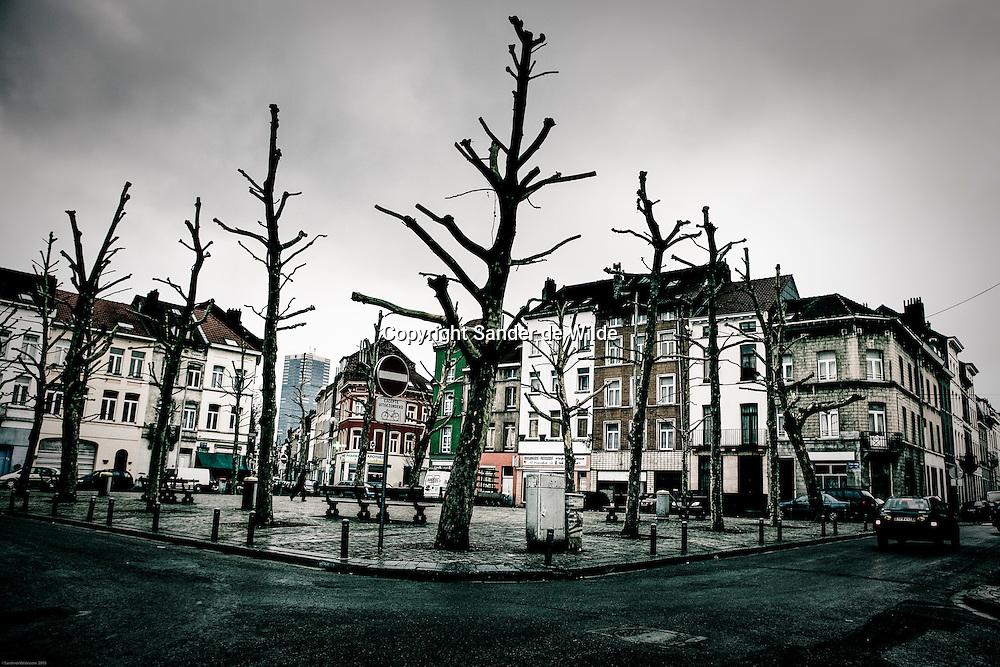 The square Lemmens, Lemmensplein is known for the many drugdealers around there. 4th of august 2010, Lemmensplein Kuregem, Brussels, Belgium