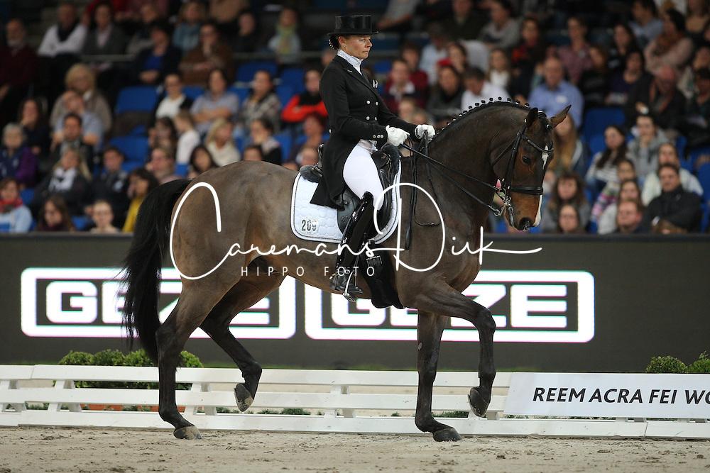 Krinke-Susmelj Marcela, (SUI), Smeyers Molberg<br /> Grand Prix K&uuml;r<br /> Reem Acra FEI World Cup Dressage<br /> Stuttgart - German Masters 2015<br /> &copy; Hippo Foto - Stefan Lafrentz